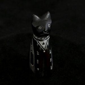 Figurina zoomorfa din piatra de talc - Pisica