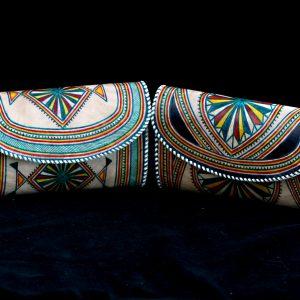 Portofel piele pictat traditional tuareg
