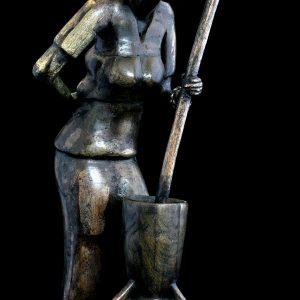 "Statueta traditionala ""Femeie din Niger"""
