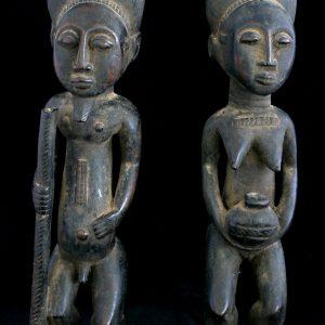 """Sculptura africana """"Cuplu Baule"""""""