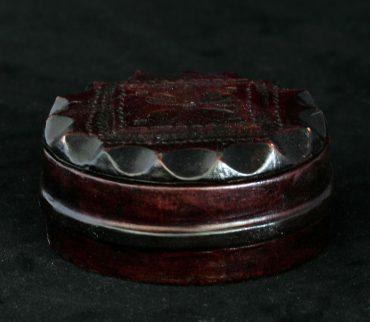 cutie bijuterii imbracata in piele